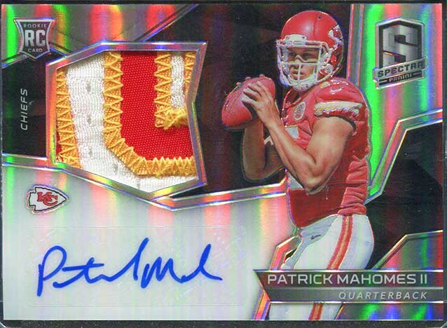 ba36f102c best patrick mahomes rookie card 2017 spectra rookie patch auto Shop 2017  Panini Spectra Patrick Mahomes on Amazon